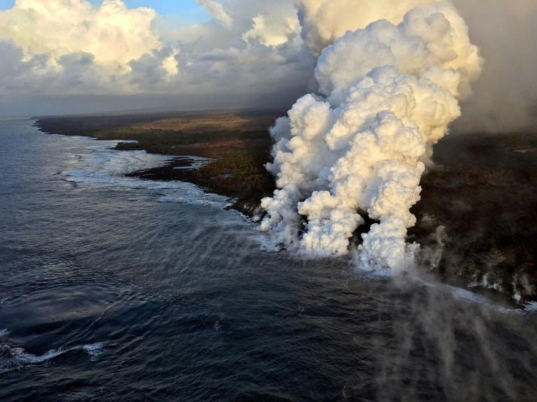 Le Kilauea est toujours en éruption depuis mai ©US Geological Survey / AFP / HO