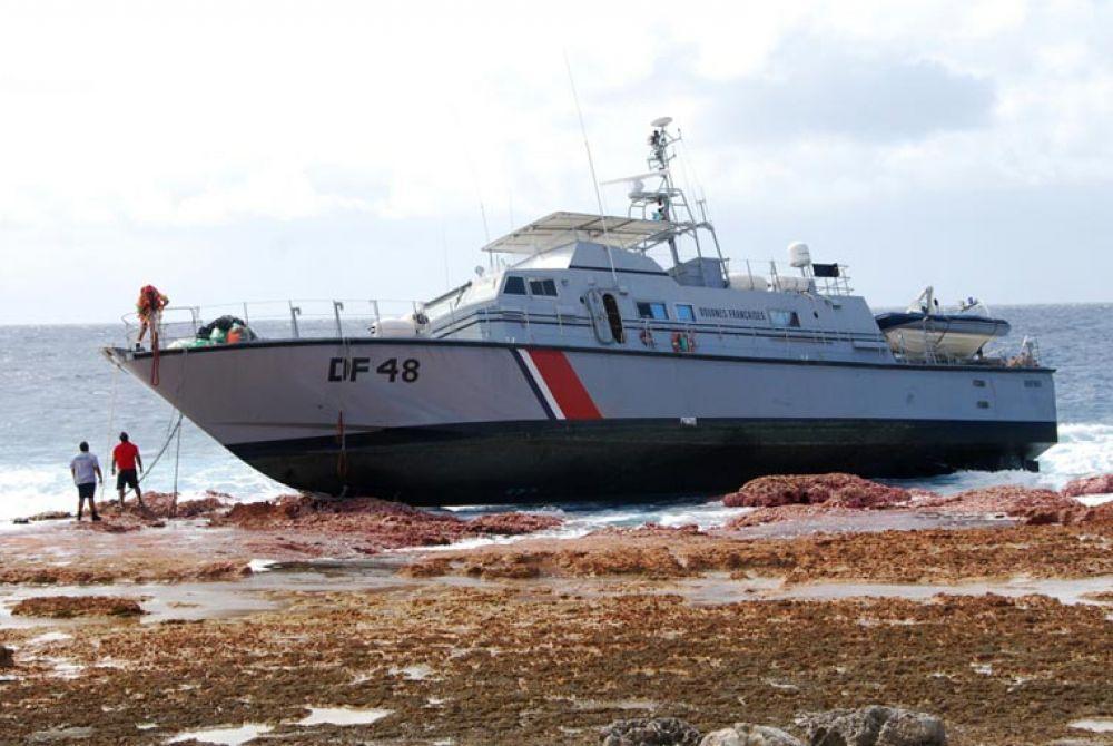 Échouée en 2014, l'unique vedette des douanes en Polynésie ne sera pas remplacée ©Ministère des Armées