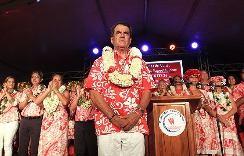 Edouard Fritch, président de la Polynésie française, confortablement réélu en mai dernier ©Nicolas Perez / Radio 1 Tahiti