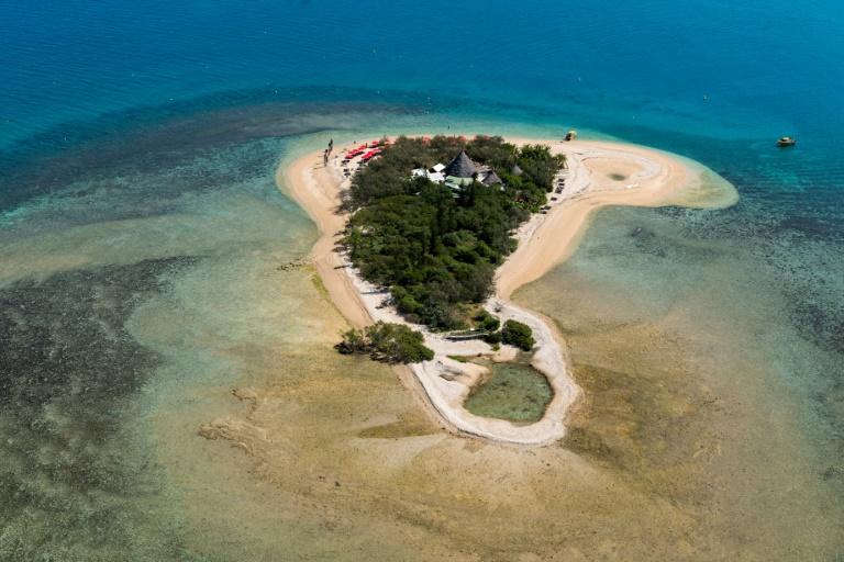 Les scientifiques estiment qu'un épisode sans précédent de blanchissement des coraux a eu lieu à l'Île aux Canards au sud de Nouméa en Nouvelle-Calédonie dans le sud du Pacifique ©Fred Payet / AFP