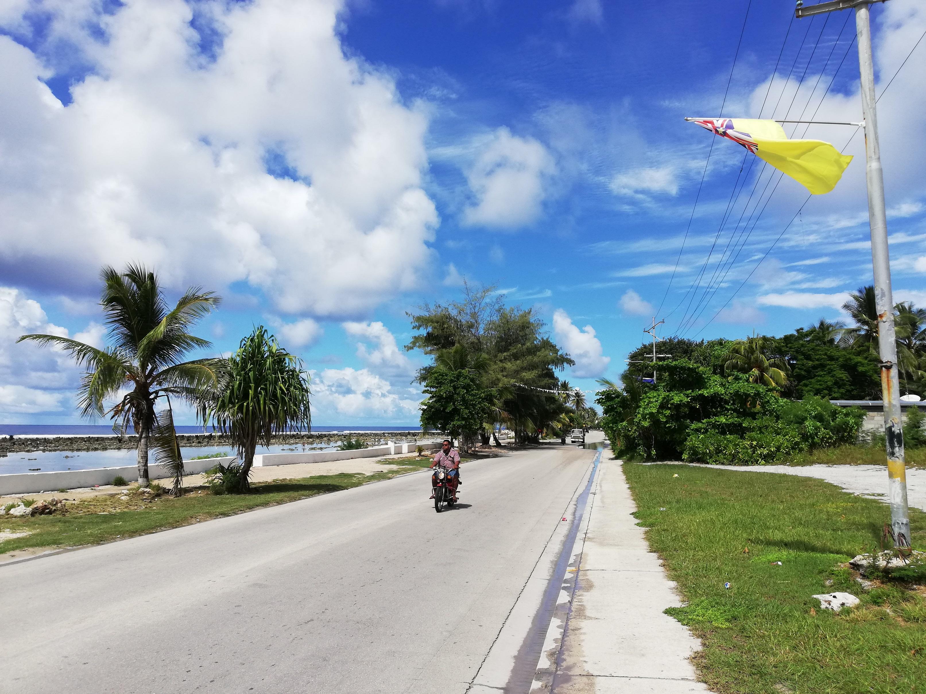 Sur sur la petite île de Nauru, peuplée de 10 000 habitants, qu'a lieu de 49ème Forum des îles du Pacifique ©Mike Leyral / TNTV