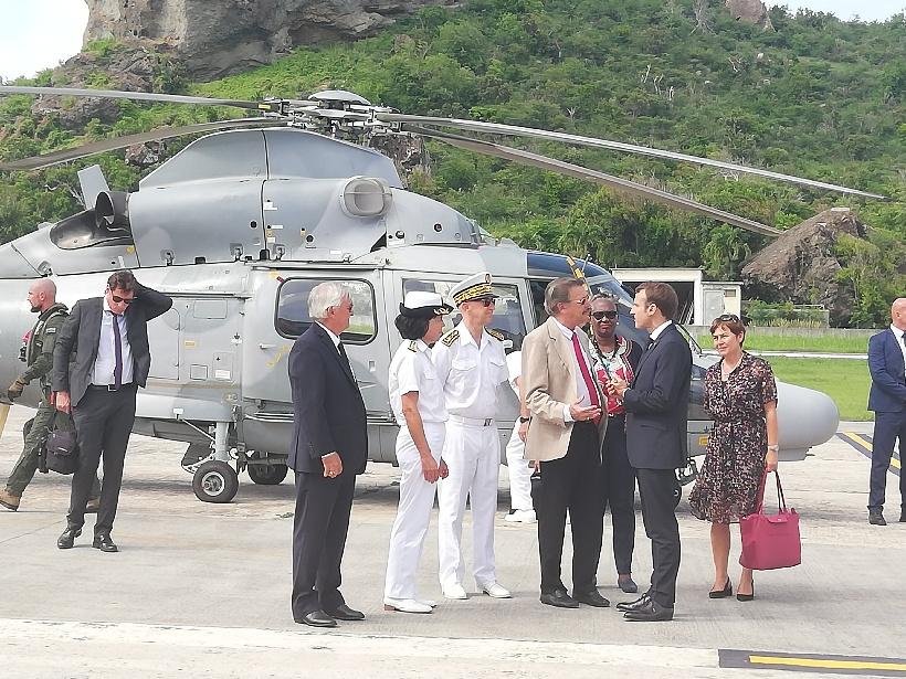 Le Président de la République s'est ensuite rendu sur l'île de Saint Barthélémy © DR