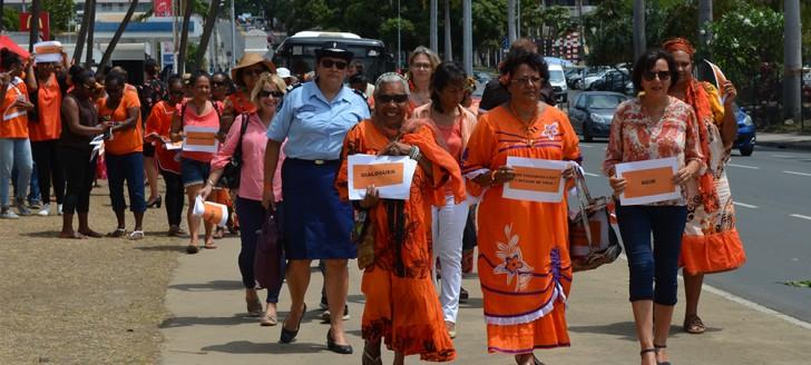 Un rassemblement en 2017 contre les violences faites aux femmes en Nouvelle-Calédonie ©gouv.nc