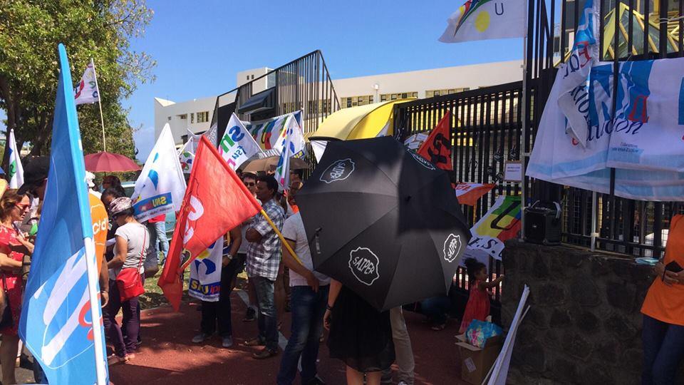 Suppression de postes dans l'Éducation nationale : 200 manifestants à La Réunion