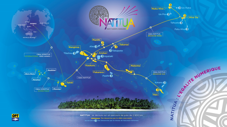 Numérique en Polynésie : Le câble domestique Natitua est entré en service