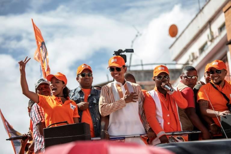 Le candidat à la présidentielle malgache, Andry Rajoelina, lors d'un défilé de ses partisans à Antananarivo, le 16 décembre 2018 ©Gianluigi Guercia / AFP