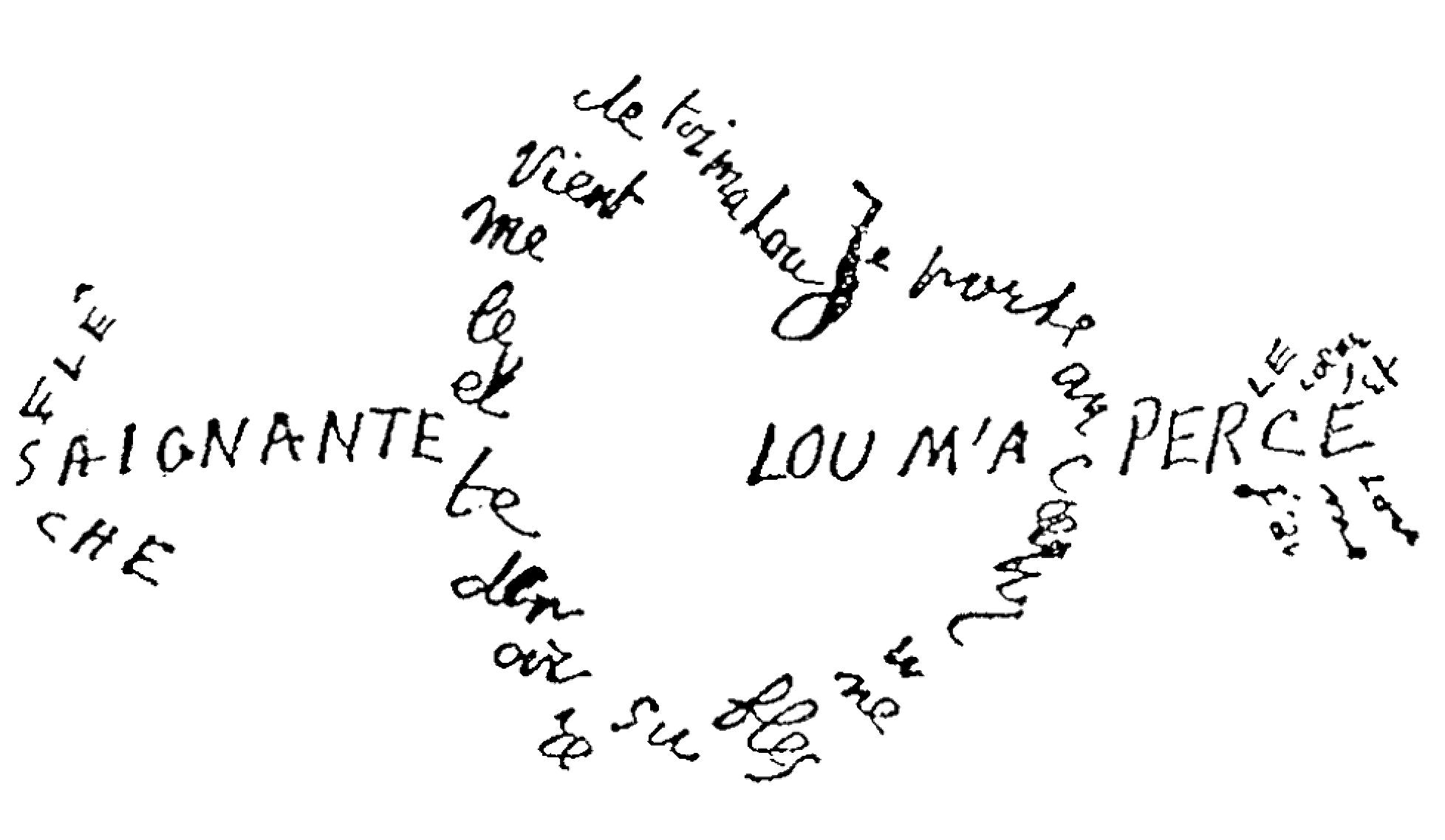 Sur les traces d'Apollinaire, participez au premier concours de Calligrammes Outre-mer