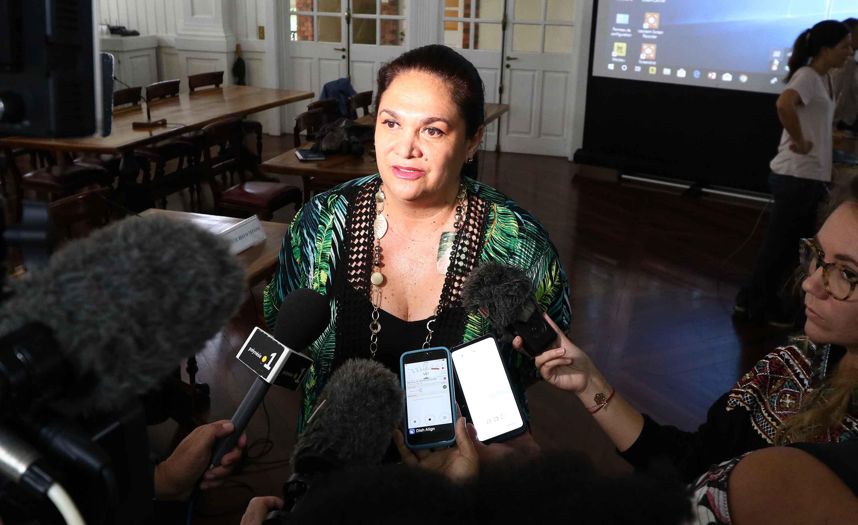 Nicole Bouteau, ministre du Tourisme en Polynésie ©Présidence de la Polynésie française