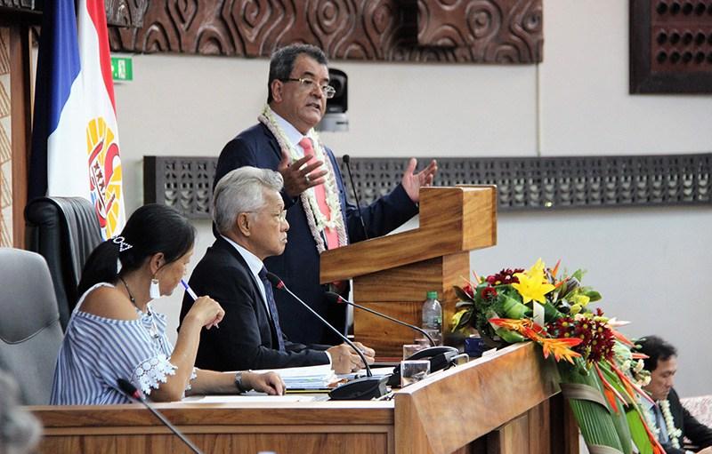 La réforme des retraites en Polynésie fut l'une des priorités d'Édouard Fritch, réélu président de la Polynésie en mai 2018 ©Assemblée de la Polynésie française