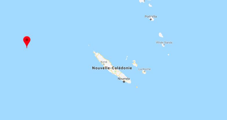 Les Chesterfield sont situées à l'extrême ouest de la ZEE calédonienne
