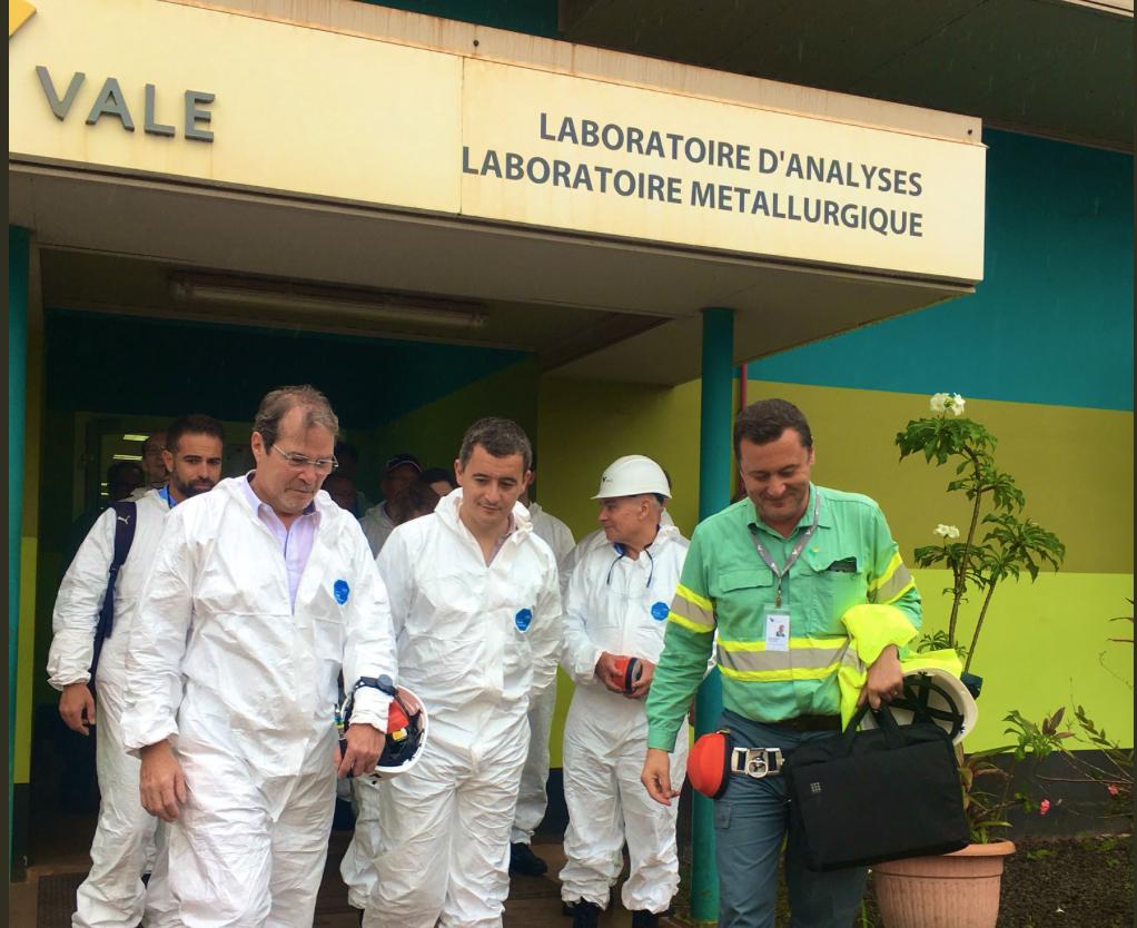 En Nouvelle-Calédonie, Gérald Darmanin plaide pour «un accompagnement» de l'industrie du nickel