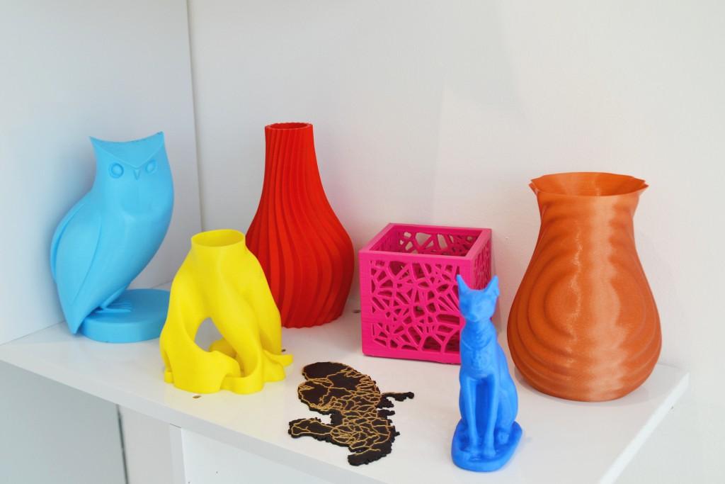 Exemple d'objets imprimés 3D © DR