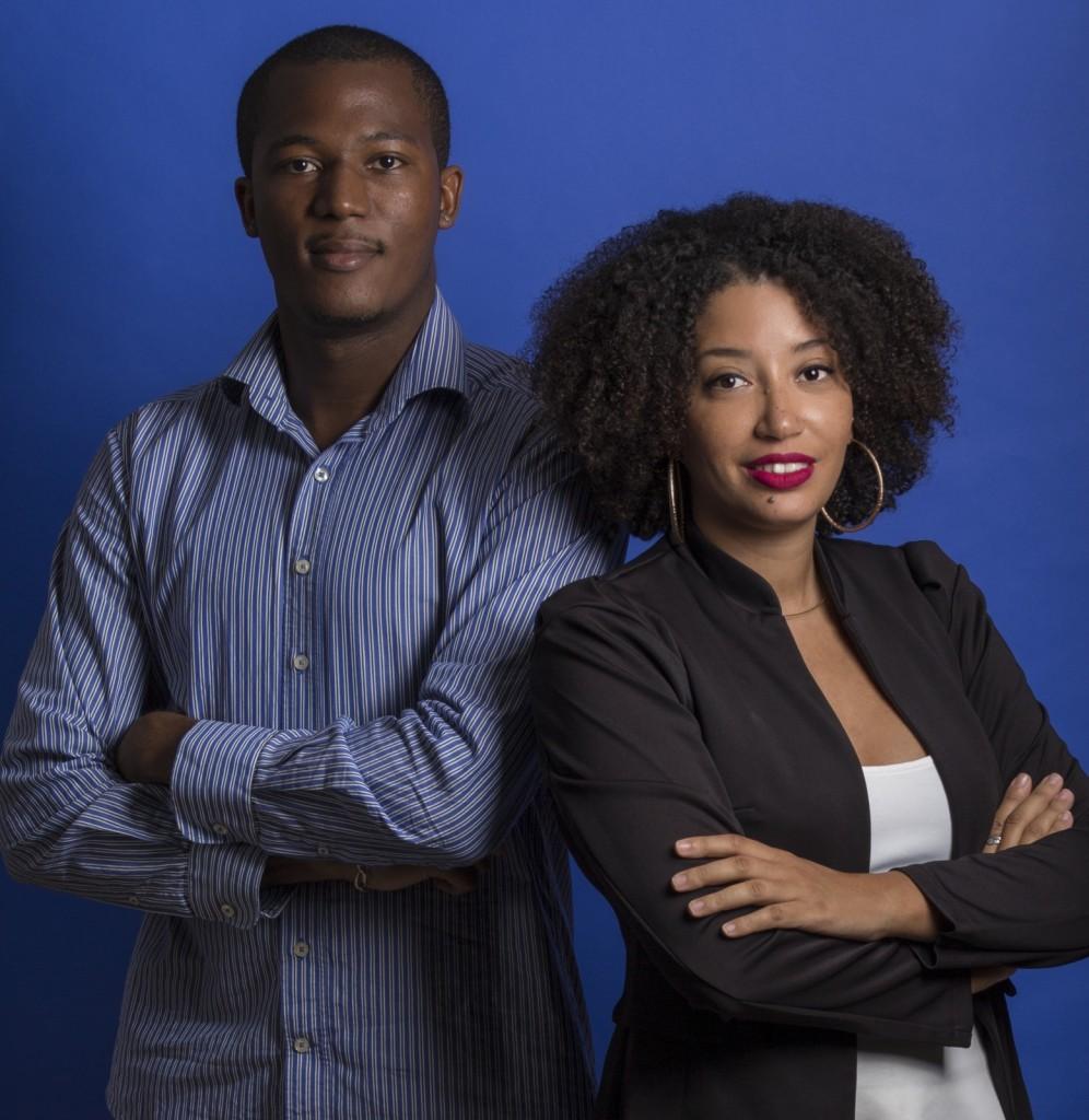 Estelle Hilaire et son associé William Caster, fondateurs de Karaib3D © DR