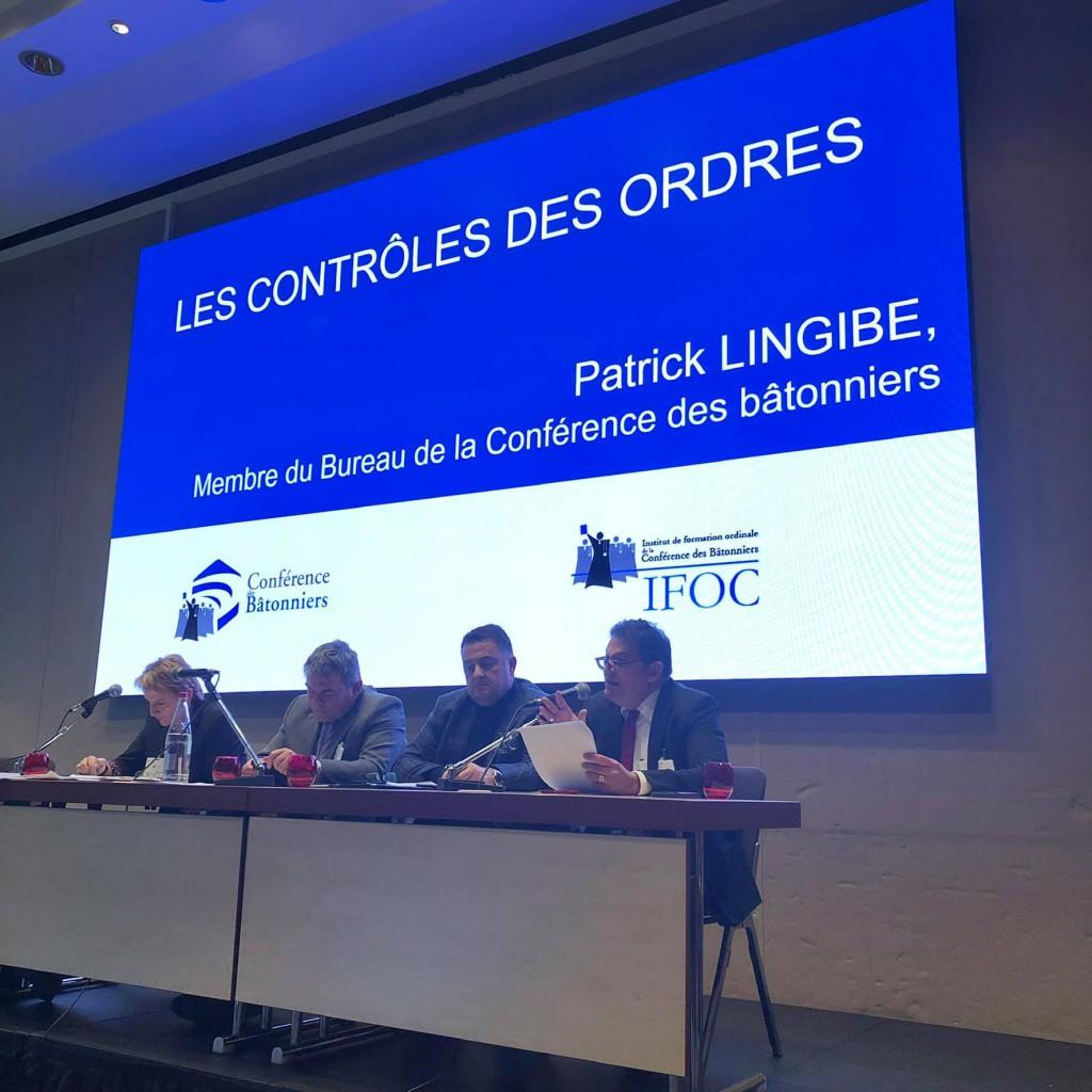 Patrick Lingibé lors d'un au séminaire organisé à Paris par la Conférence des Bâtonniers en décembre 2018