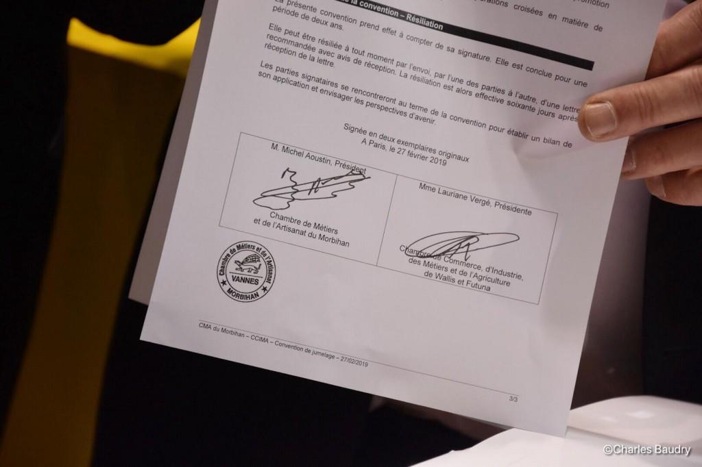 Une convention a été signée avec la chambre de Métiers du Morbihan ce 27 février