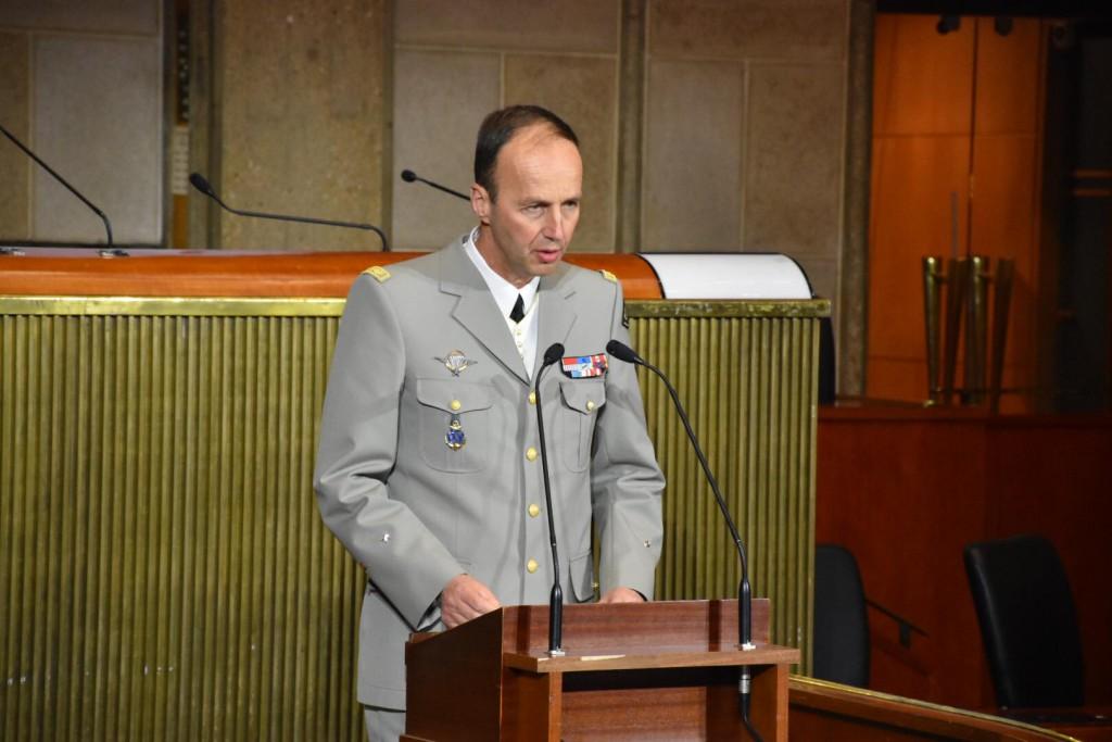 Le général Thierry de Ladoucette, commandant du SMA, en visite en Guyane
