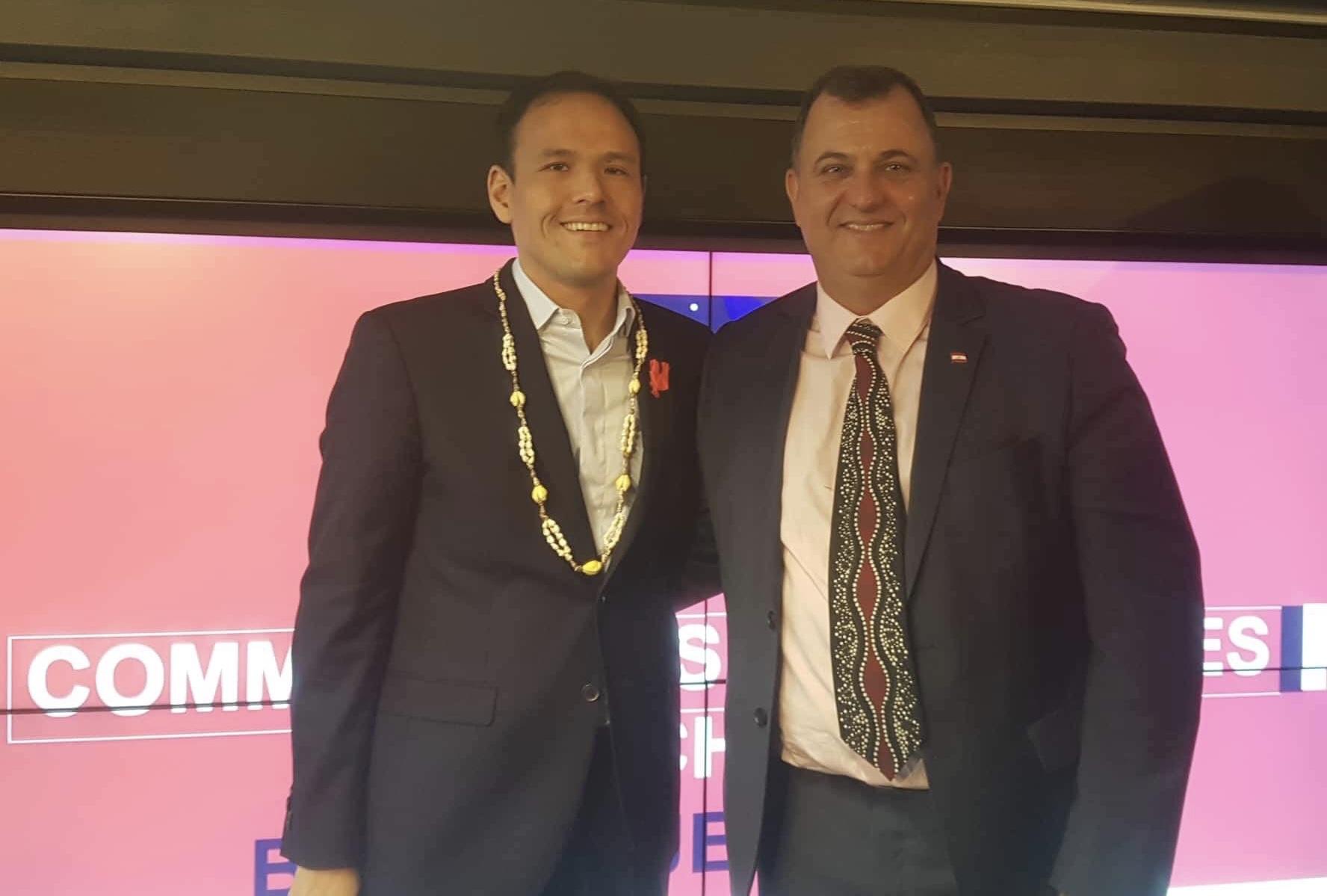 Cédric O, nouveau secrétaire d'État en charge du Numérique, et Olivier Kressmann