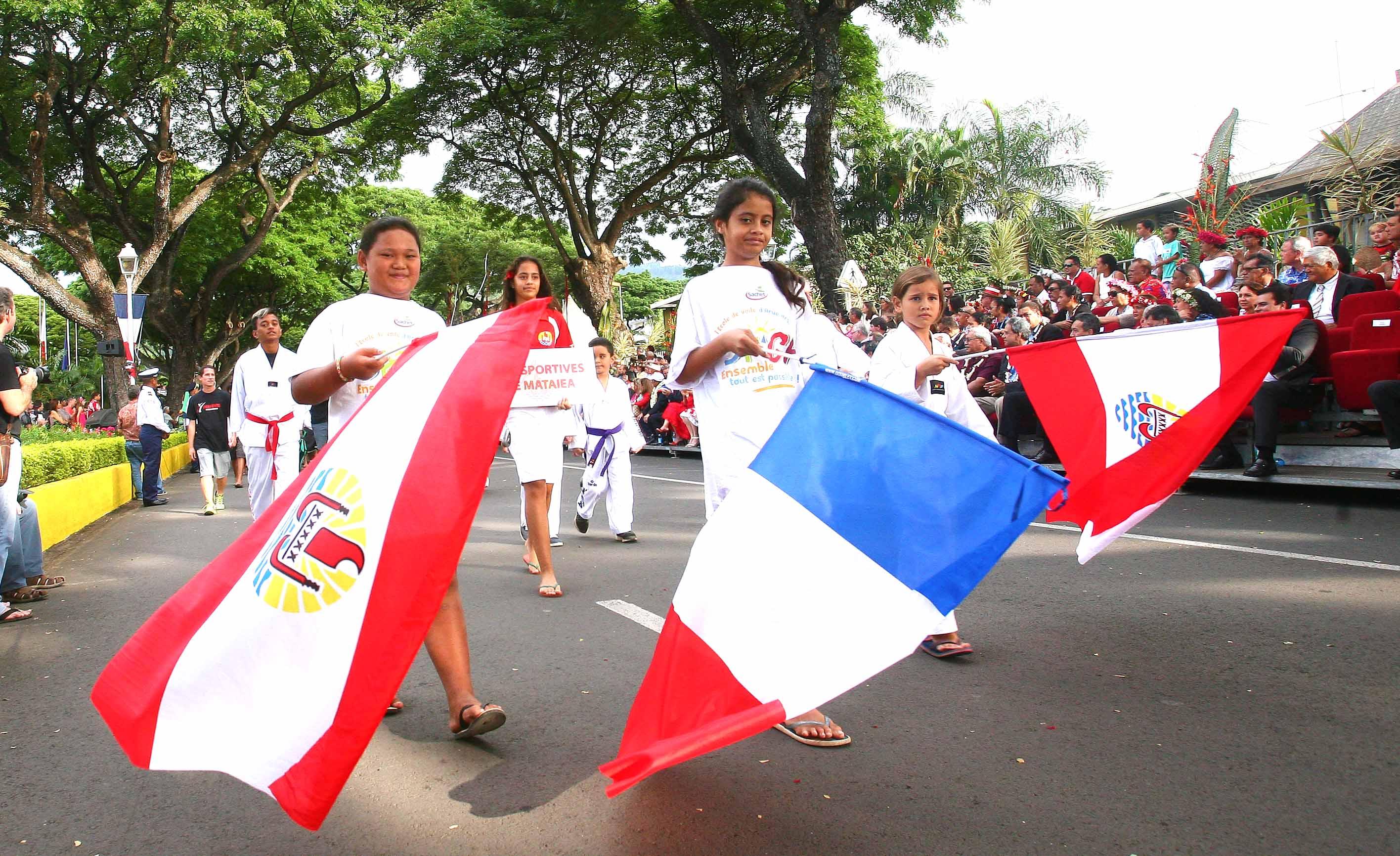 Défilé lors de la Fête de l'autonomie en 2016 ©Présidence de la Polynésie