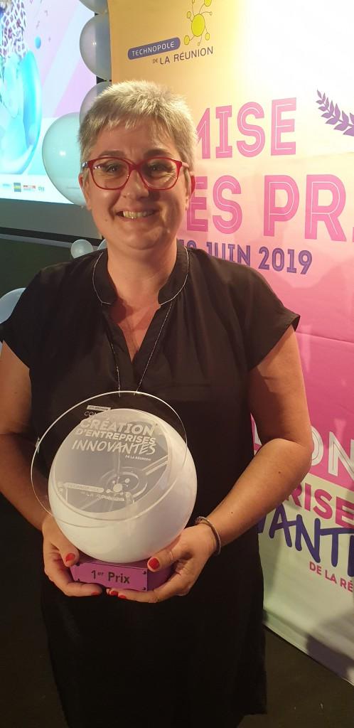 Ingrid Violeau, premier prix du Concours  de Création d'Entreprises Innovantes 2019
