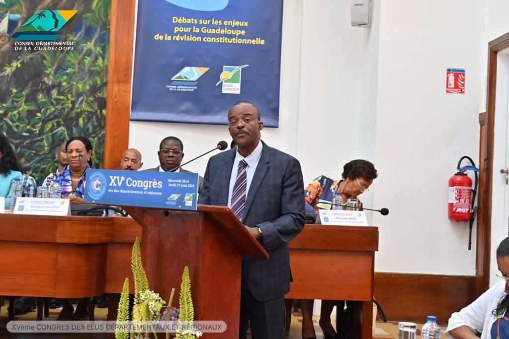Discours du Président du Conseil régional lors du Congres de Guadeloupe ©  Conseil départemental de Guadeloupe