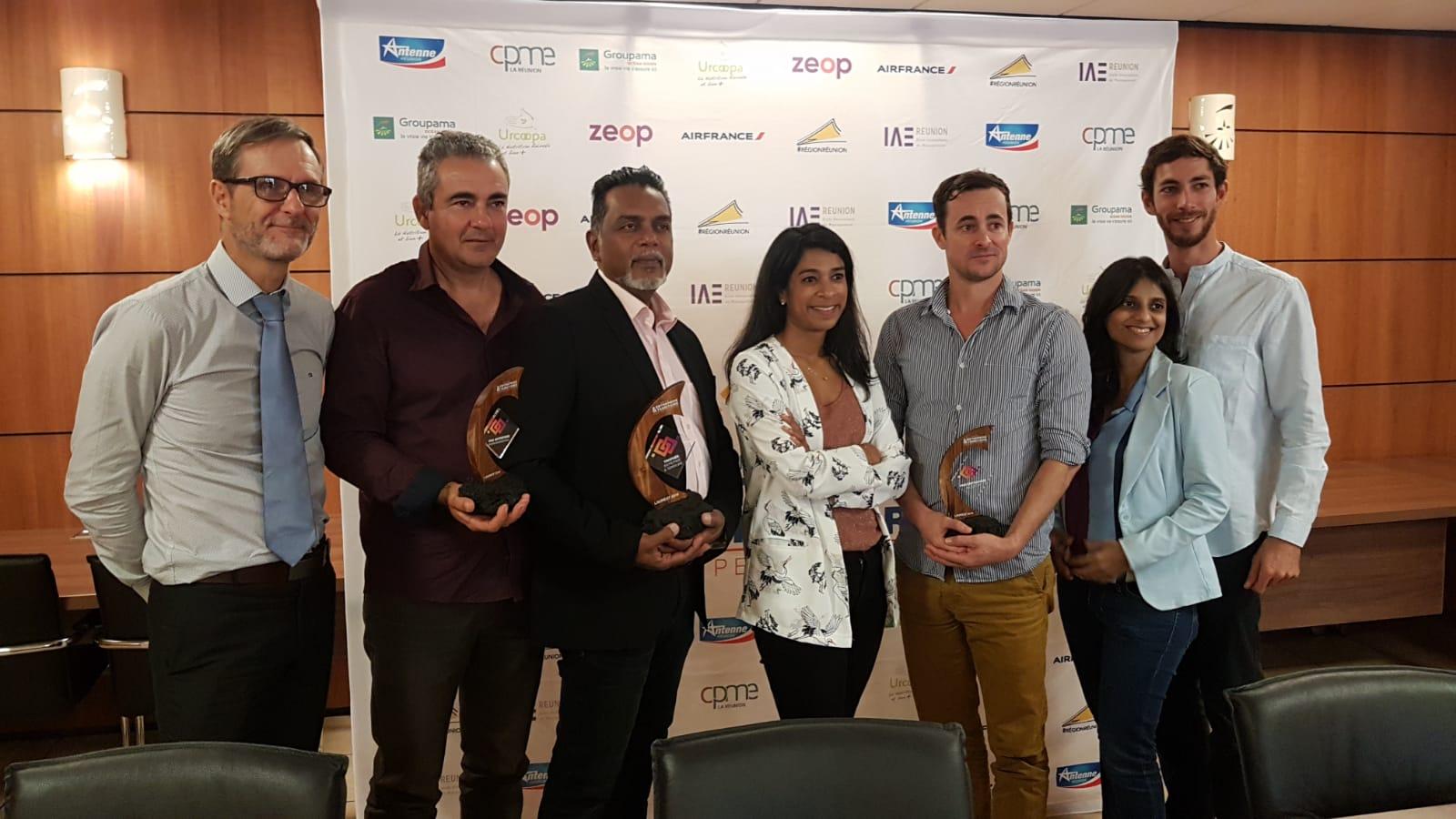 La Réunion : 4 lauréats primés lors du concours Trophée Entreprise & Territoire 2019