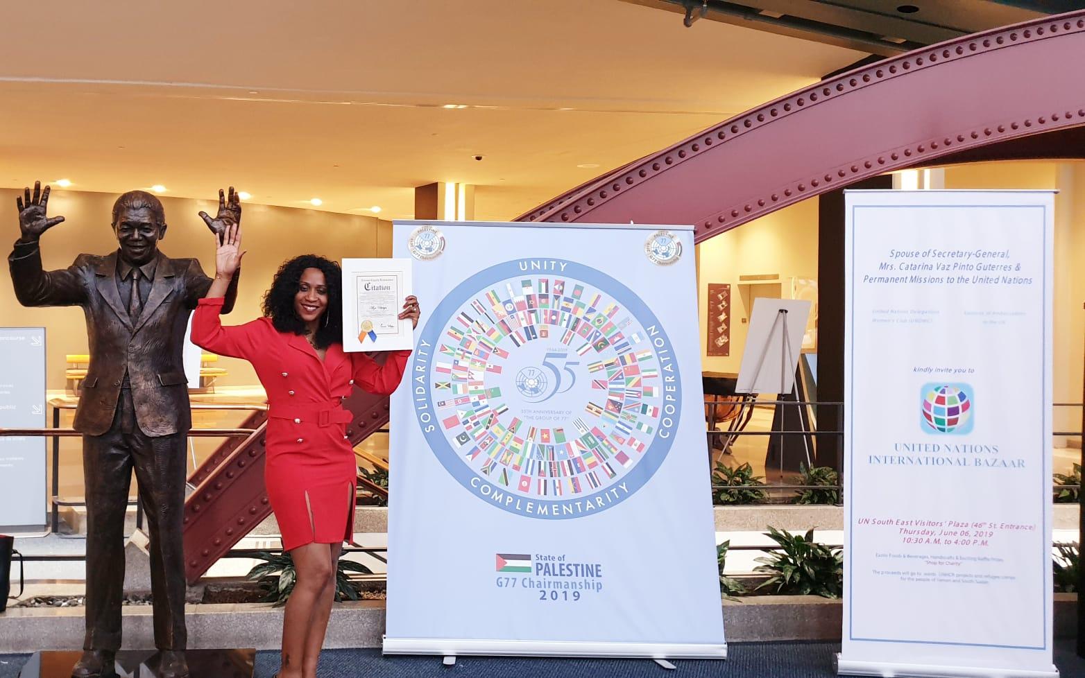 La Guyanaise Alizé Utteryn récompensée aux Nations Unies par le COJEP et la Fondation Drug Free World