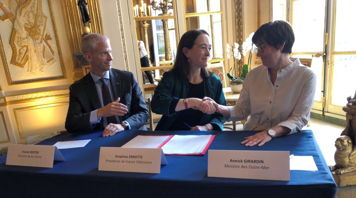France TV : Deux ministres et Delphine Ernotte signent un « Pacte pour la visibilité des Outre-mer »