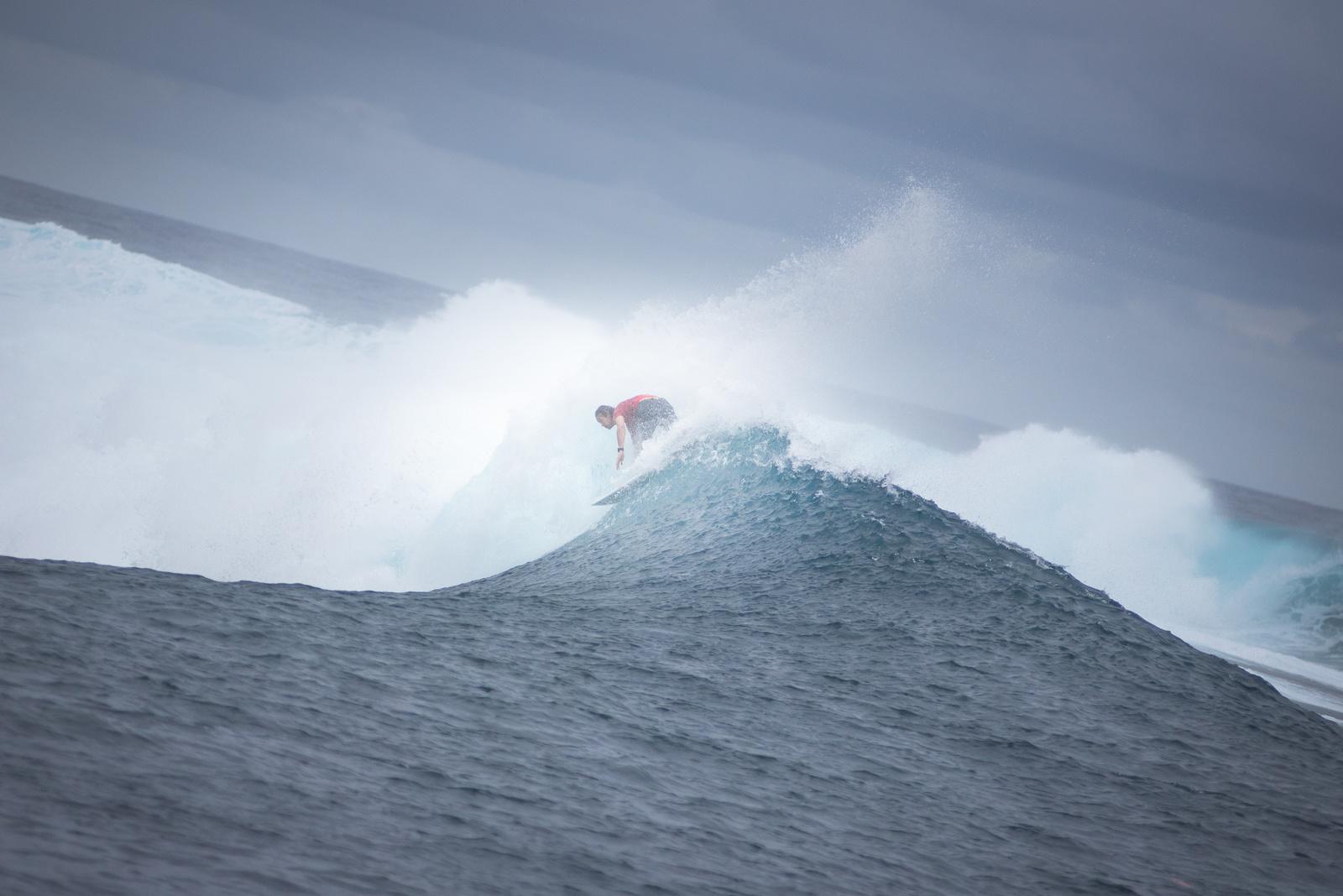 Le beach break de Taharuu à Papara est également très prisé des surfeurs tahitiens