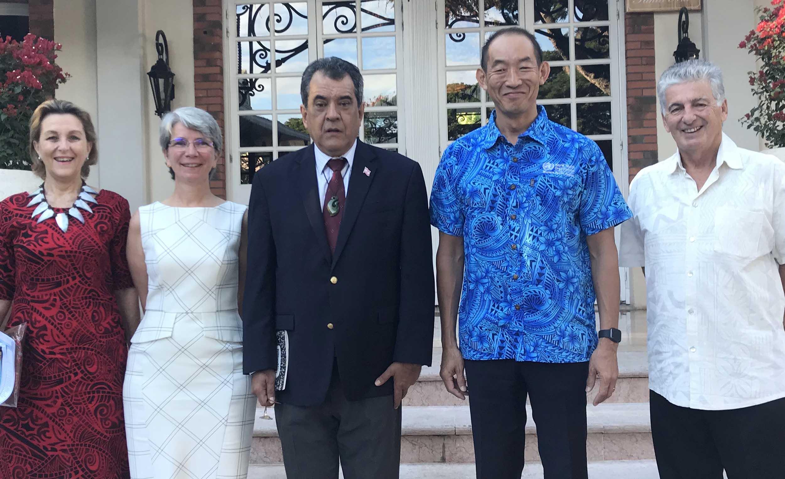 Santé Pacifique : Le président de la Polynésie reçoit le directeur régional de l'OMS