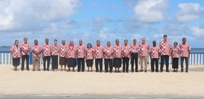L'ensemble des dirigeants des États et territoires insulaires du Pacifique, dont Scott Morisson et Jacinda Ardern ©Présidence de la Polynésie française