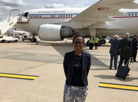 Catherine Jean-Joseph est arrivée dans le Sud hier, pour la commémoration du 75ème anniversaire du Débarquement en Provence