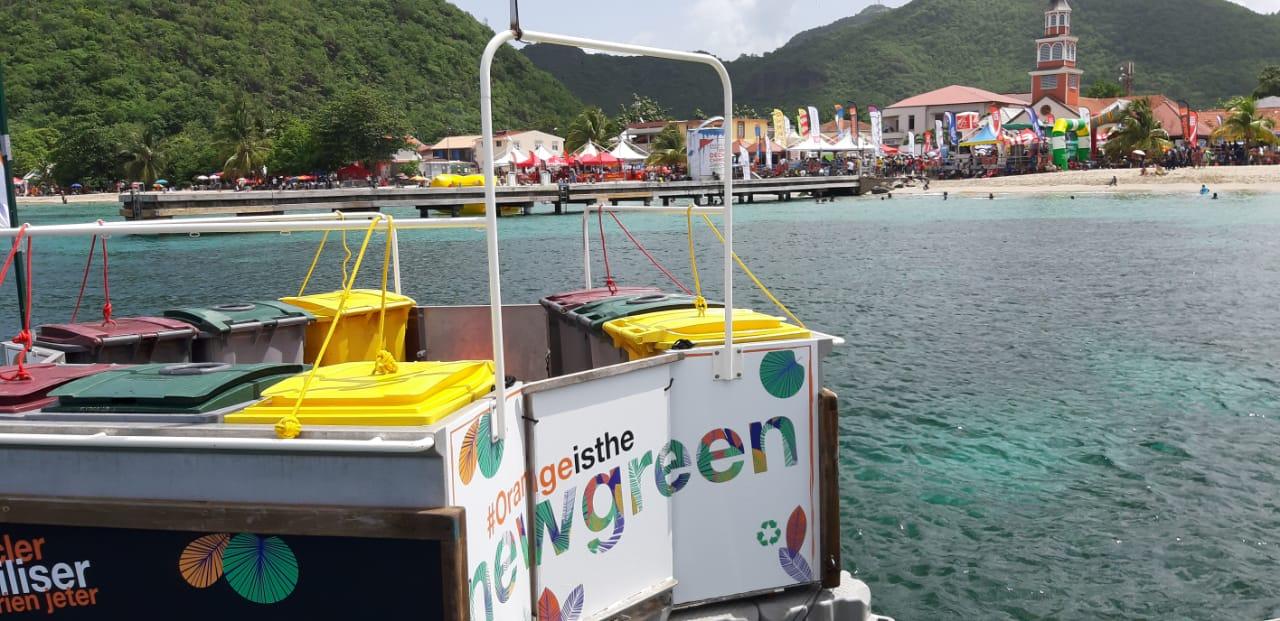 35ème Tour de Martinique des Yoles Rondes : Orange lance une campagne de sensibilisation à la gestion et au recyclage des déchets sur les différentes étapes du tour