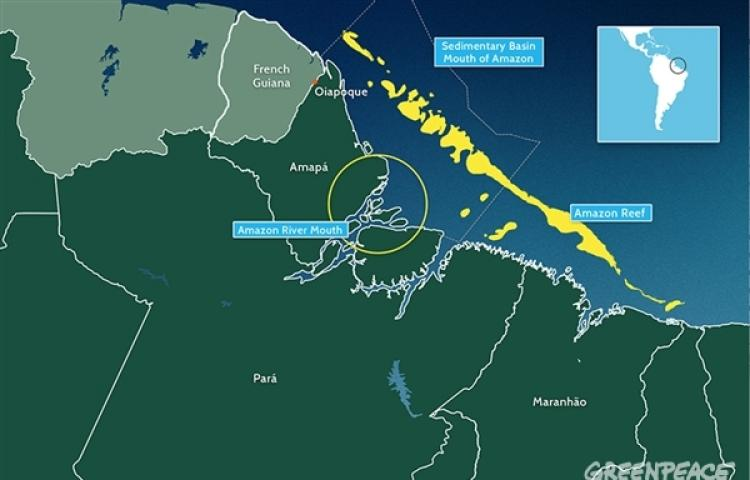 Le récif de l'Amazone s'étire jusqu'en Guyane Le navire de Greenpeace Esperanza mènera cette mission ©Greenpeace