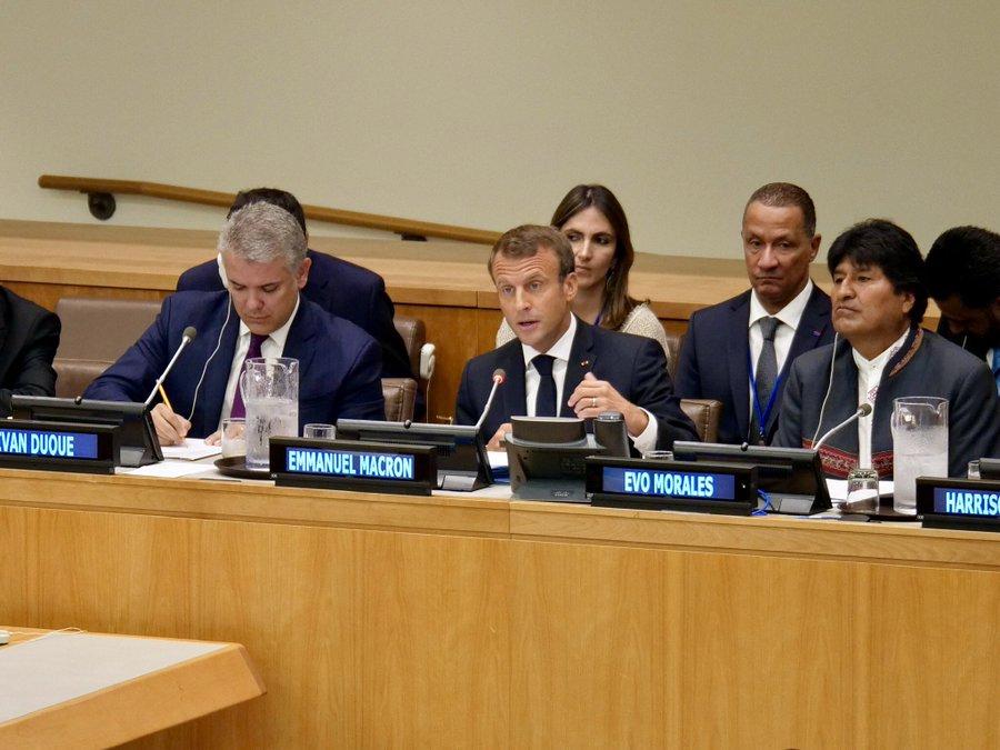 Amazonie: A l'ONU, Emmanuel Macron et Rodolphe Alexandre appellent à préserver la forêt tropicale