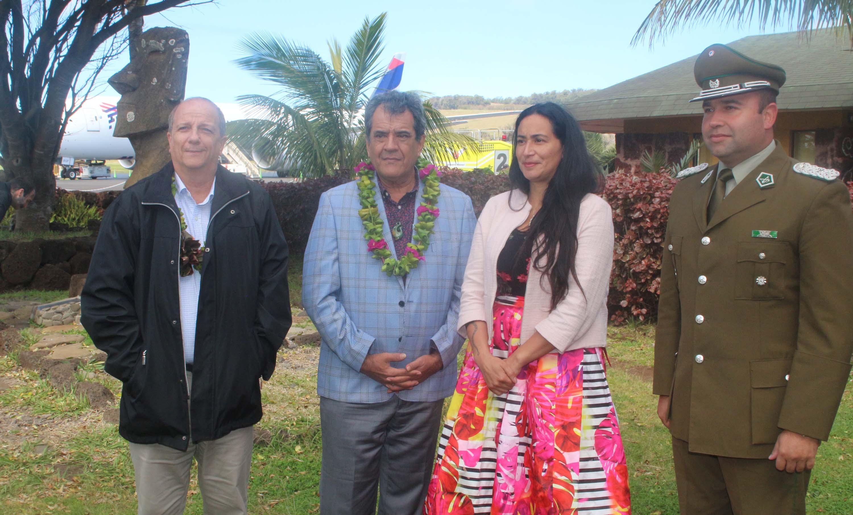 Édouard Firtch a également été reçu par le gouverneur de l'île de Pâques ©Présidence de la Polynésie française