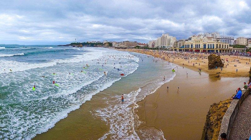 La Grande Plage de Biarritz, au Pays-Basque ©Flickr