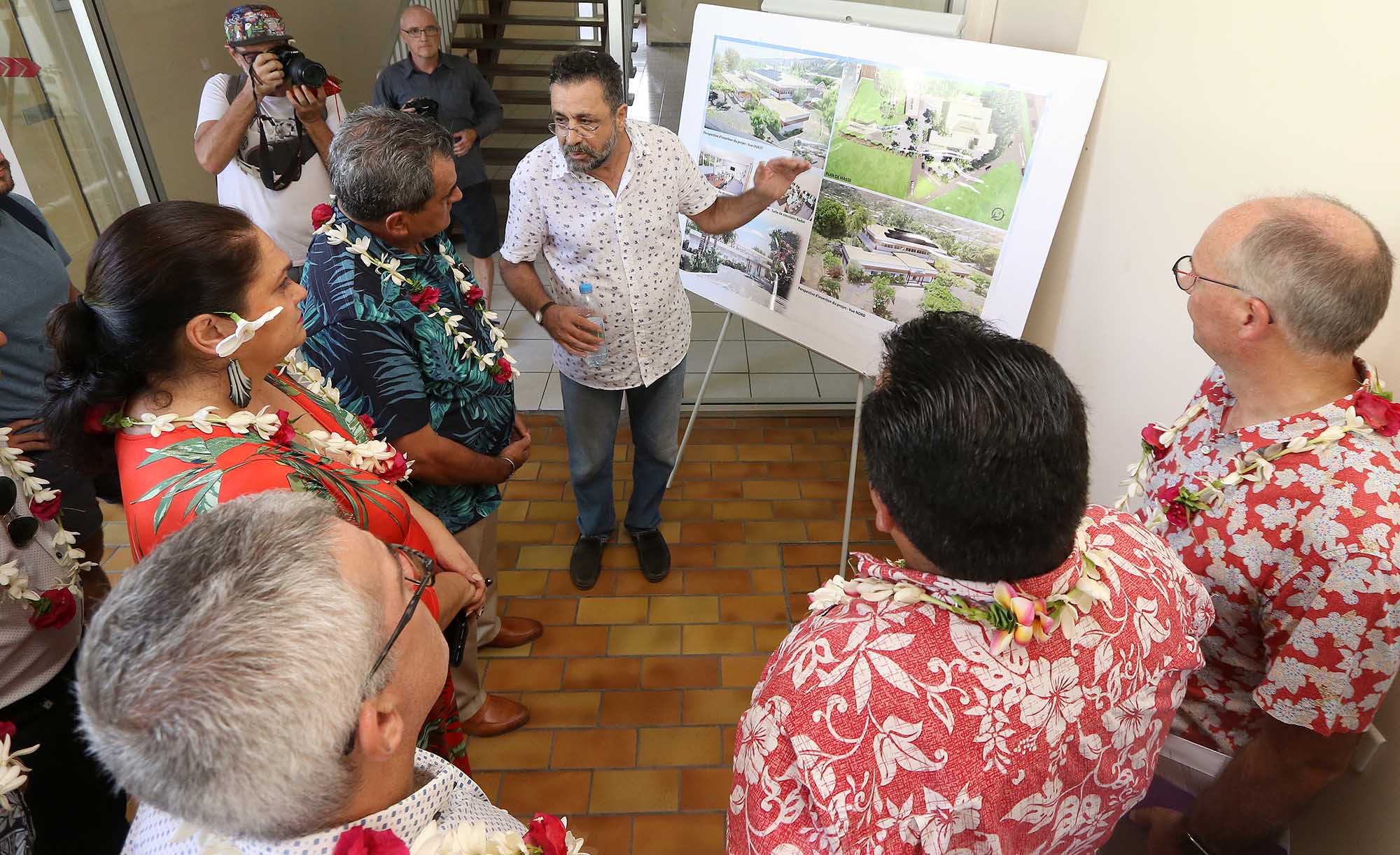 Ce futur campus sera situé sur la commune de Arue, sur l'île principale de Tahiti ©Présidence de la Polynésie