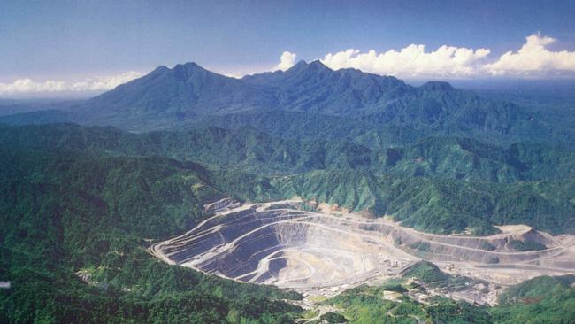 La mine de Panguna, sur l'île Bougainville