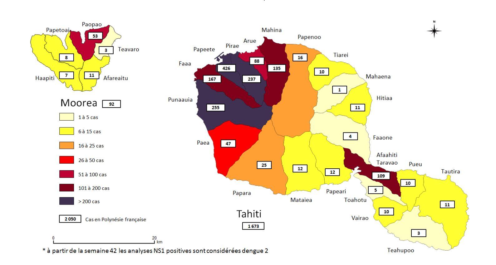 En Polynésie, la dengue a touché plus de 2000 personnes depuis avril