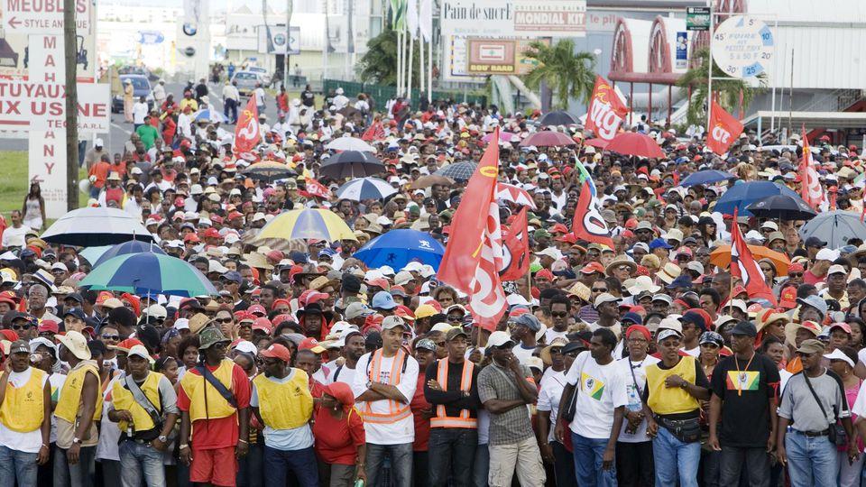 Grève générale en Guadeloupe en 2009 ©AFP (Archives)