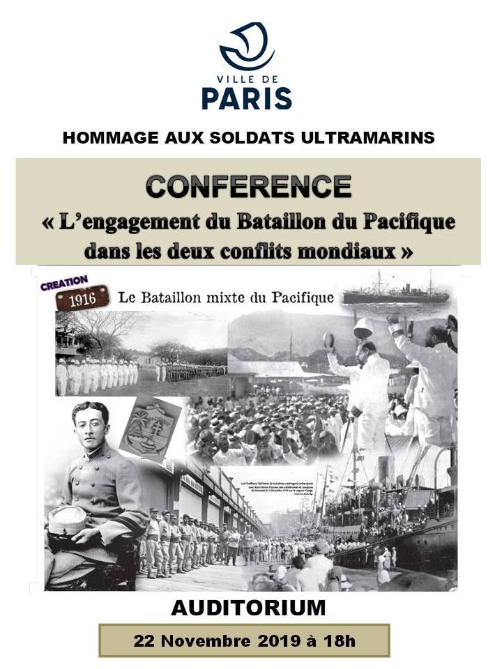 AFFICHE DE LA CONFERENCE DU 22-11 Le Bataillon Mixte du Pacifique dans ...