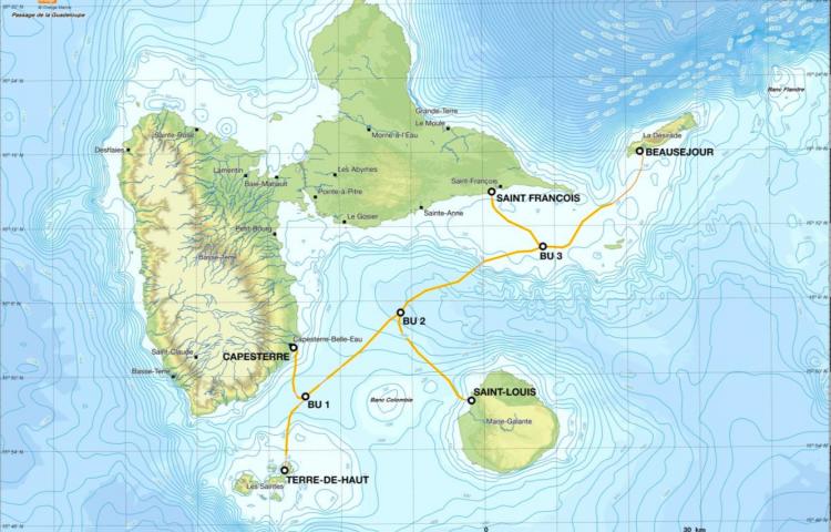 câbles Guadeloupe capture