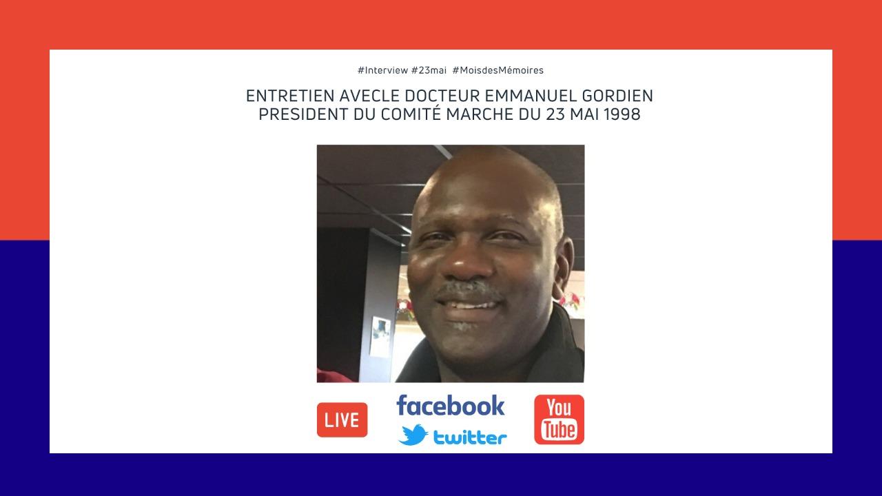 Mois des Mémoires 2020: Entretien avec Emmanuel Gordien, Président du CM98