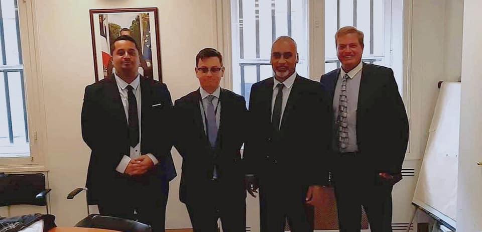 Louis Alphonse, Xavier Brunetière, conseiller Outre-mer du Premier ministre, Mikaele Kulimoetoke, élu de Wallis et Futuna, et Olivier Bole ©Air Corail