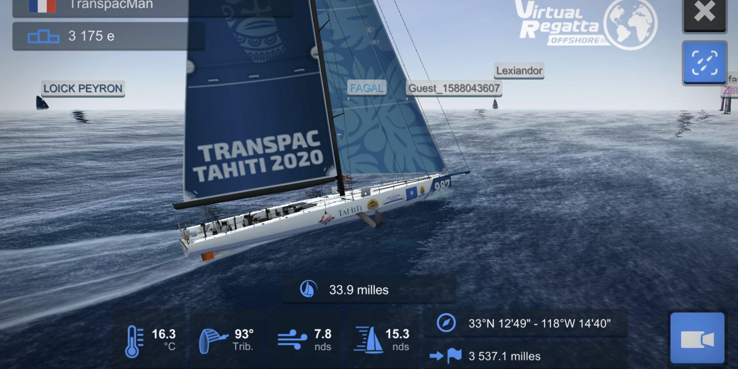 Pacifique : La course virtuelle de voile Transpac Tahiti touche à sa fin