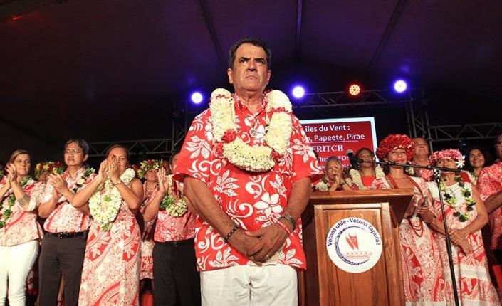 Édouard Fritch lors de la campagne électorale des territoriales de 2018 ©Radio 1 Tahiti / Nicolas Perez