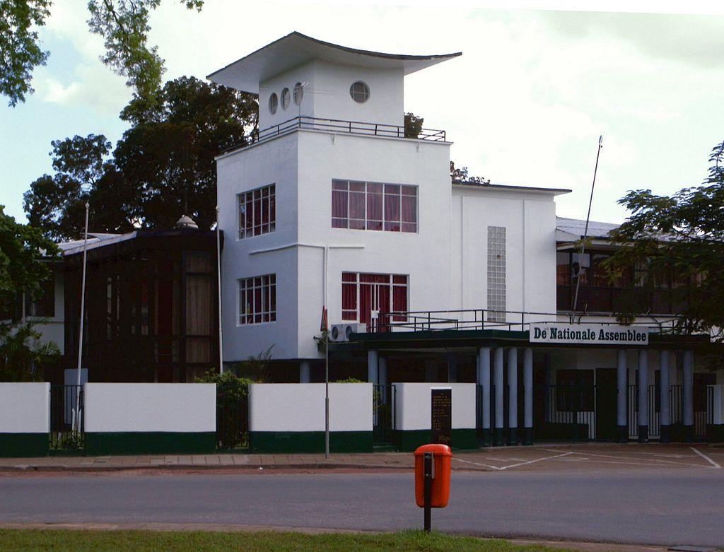 L'Assemblée nationale du Surinam à Paramaribo