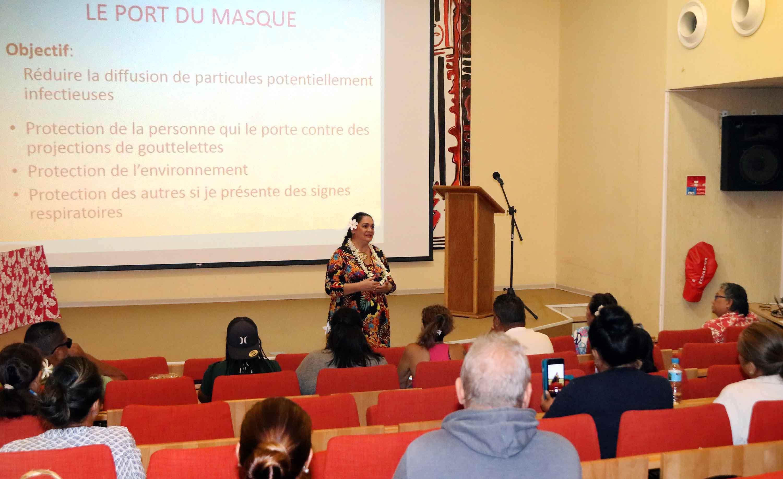 La ministre du Tourisme en Polynésie a préparé les professionnels du secteurs en amont de la réouverture du 15 juillet ©Présidence de la Polynésie