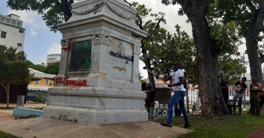 Martinique :  Les statues de Joséphine de Beauharnais et de Pierre Belain d'Esnambuc à Fort-de-France détruites par des activistes