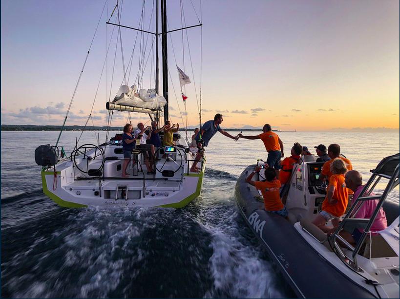 Arrivée d'un équipage à Marie-Galante lors de l'édition 2019 ©Rally des Îles du Soleil